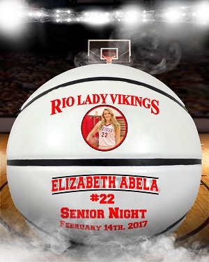 Full Size Photo Basketball - Individual Senior Gift