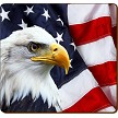 PATRIOTIC EAGLE COASTER - 1