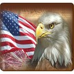 PATRIOTIC EAGLE COASTER - 3