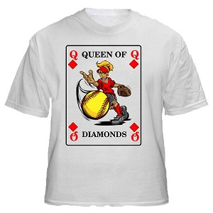 Queen Of Diamonds Softball Design
