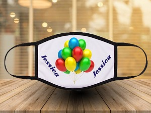 PERSONALIZED BALLOONS PRINT FACE MASK