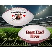 FATHER'S DAY PHOTO FOOTBALL - TOP & BOTTOM PANELS