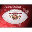 MERRY CHRISTMAS PHOTO FOOTBALL - JUNIOR SIZE