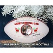 MERRY CHRISTMAS PHOTO FOOTBALL - FULL SIZE