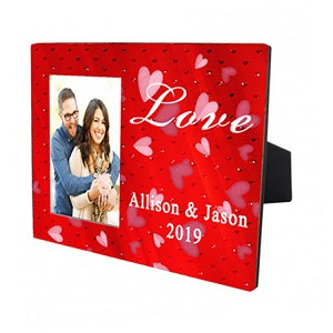 RED LOVE PHOTO FRAME - HORIZONTAL ORIENTATION