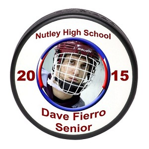 Senior Gift Photo Ice Hockey Puck
