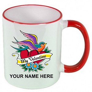 Personalized Love Bird Valentines Day MUG