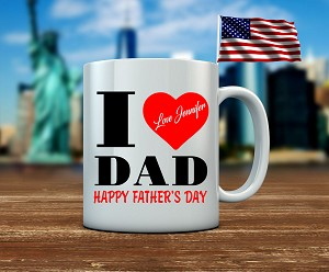 I HEART DAD WHITE MUG