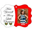 MERRY LITTLE CHRISTMAS PHOTO CHRISTMAS ORNAMENT