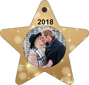 Star Shaped Photo Christmas Ornament
