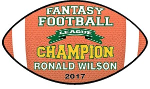 Fantasy Football Plaque