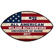 ALL AMERICAN FOOTBALL PLAQUE