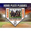 Little League Team Photo Deluxe Home Plate Wood Plaque
