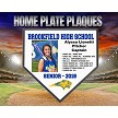 Player Recognition Deluxe Home Plate Wood Plaque