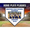 Senior Deluxe Home Plate Wood Plaque