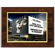 STADIUM JUMBOTRON PRINT - DELUXE PLAQUE - 1 PHOTO & TEXT