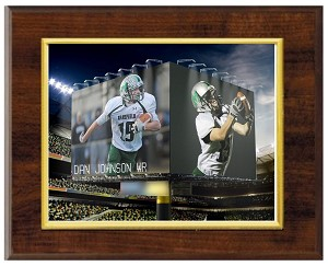 STADIUM JUMBOTRON PRINT - DELUXE PLAQUE - 2 PHOTOS
