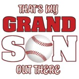 That's My Grandson Out There Baseball OVERSTOCK T-Shirt