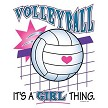 Volleyball It's A Girl Thing Design