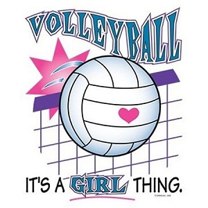 Volleyball It's A Girl Thing T-Shirt